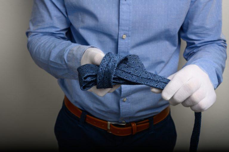 Krawatte Knoten Bilden Ansicht 2