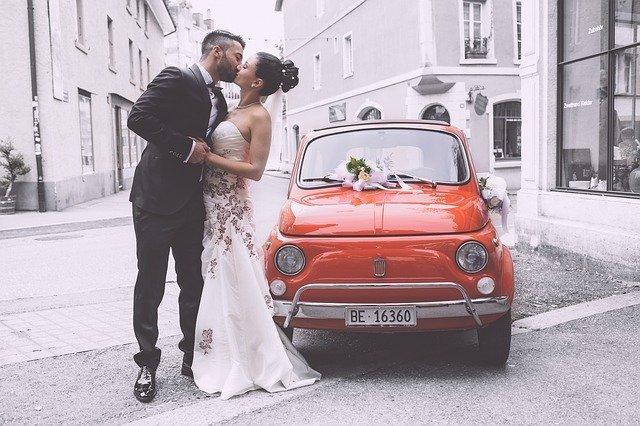 romatische Hochzeit